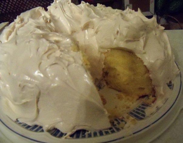 Seafoam Icing Cake