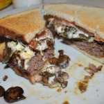 Smothered Venison Burger