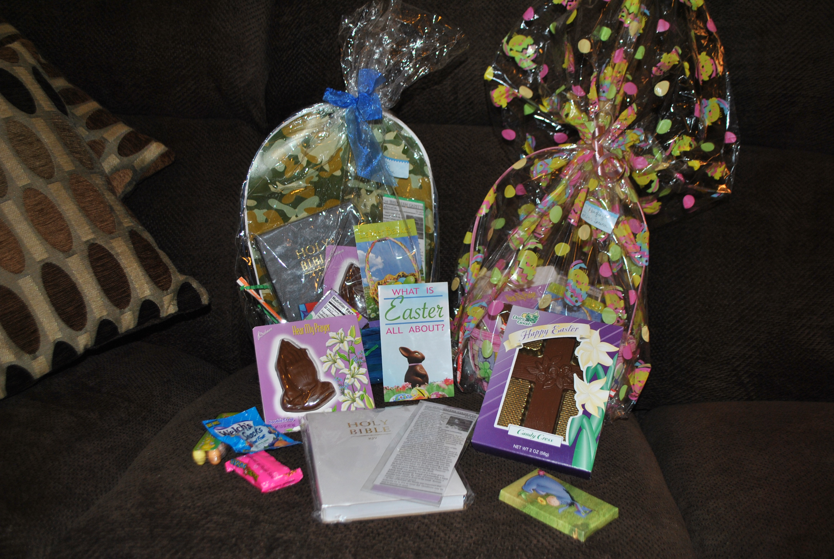 Easter basket ideas that incorporate the true meaning of easter jesus i wanted them to get a easter basket and enjoy some candy and at the same time have jesus shine through as the sole purpose for easter and not highlight negle Images