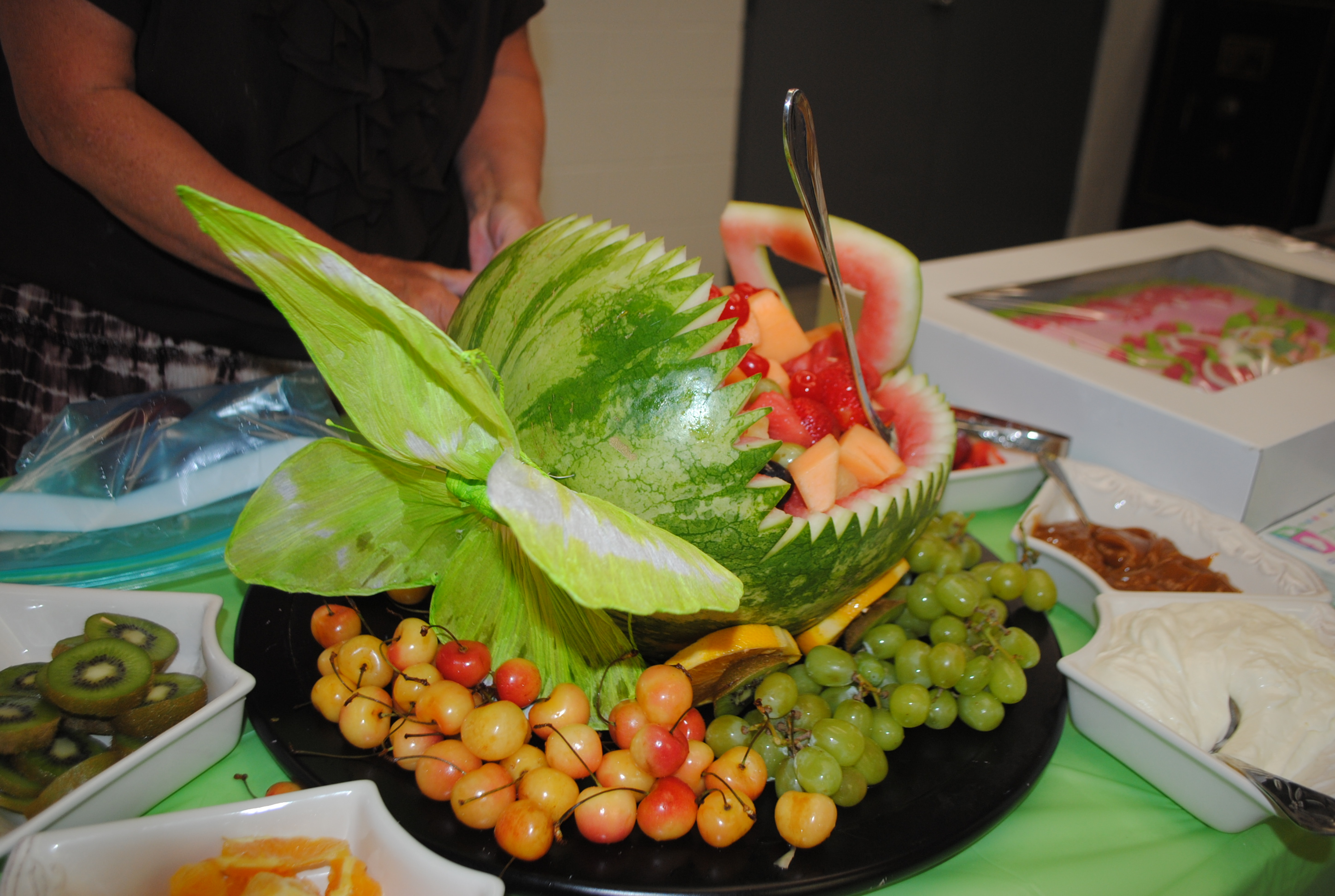 Baby Shower Carving Watermelon Basket Carving Watermelon Into