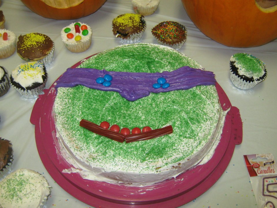 Teenage Muntant Ninja Turtle Birthday Cake