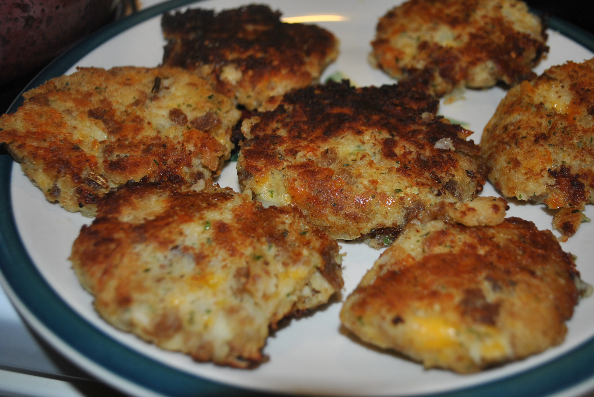 Fried Stuffing Cakes