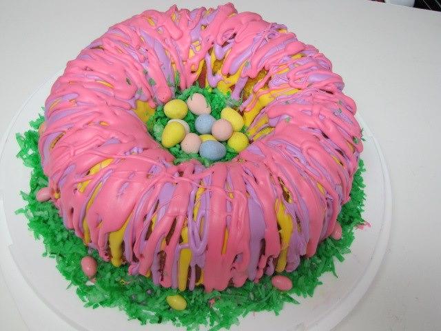 Rainbow ring easter basket cake rainbow ring easter basket cake 1heat negle Images